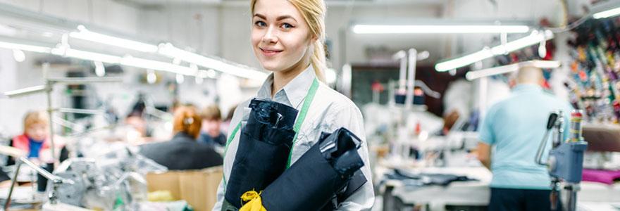 Recherche d'emplois et de formations dans le secteur du textile